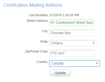 certification-mailing-address
